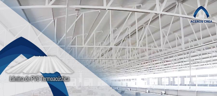 Lámina de PVC termoacústica para granjas