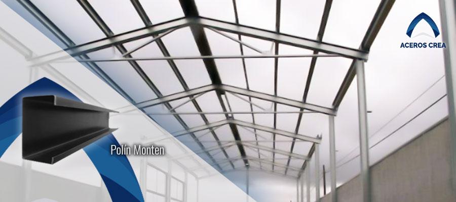 Polines monten de acero para techos