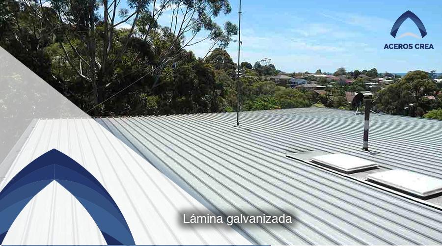 Lámina galvanizada para techar