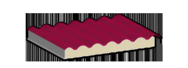 Panel aislante estilo teja