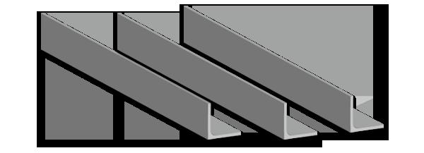 ángulos de acero