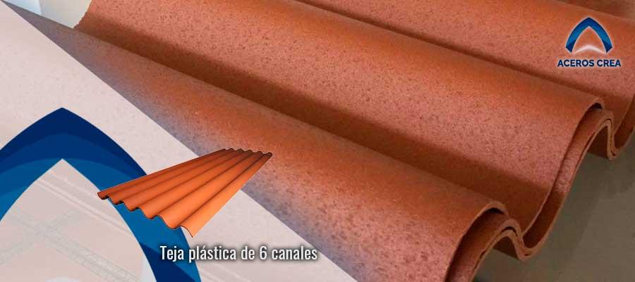 Venta de Teja plástica de seis canales