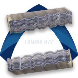 Lámina acanalada de acero r72