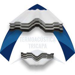 Lámina de pvc termoacústica tricapa